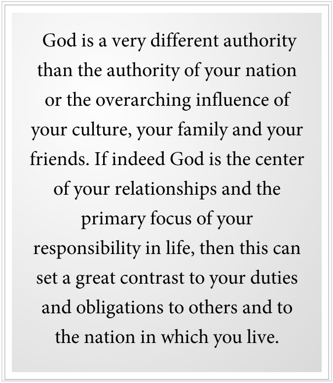 God is the center of your relationships