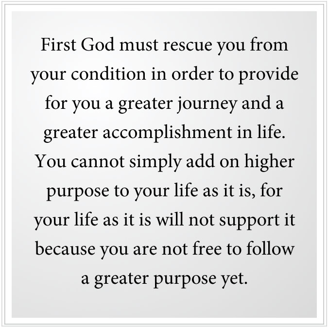 God must rescue you