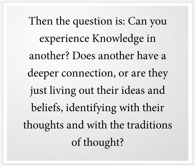 identifying with ideas and beliefs