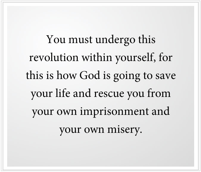 revolution within generates relationship with god