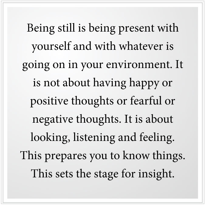 being present with yourself