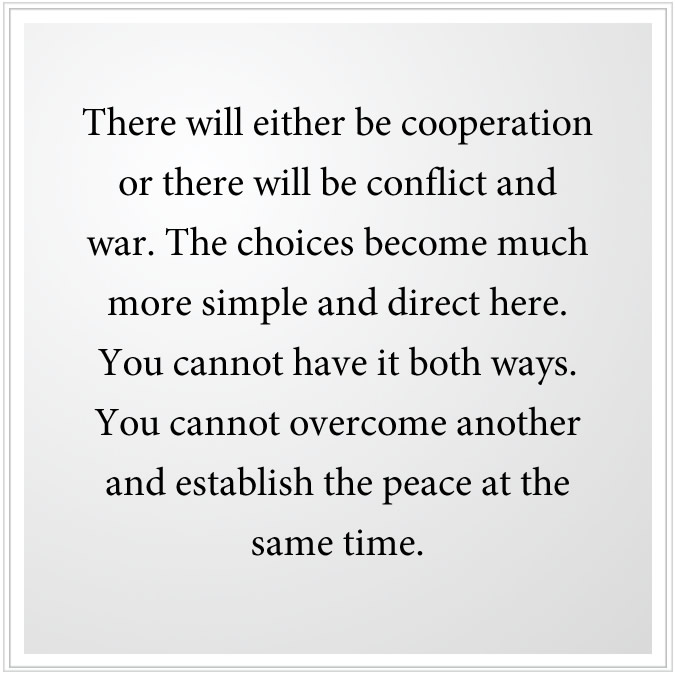 cooperation or conflict and war
