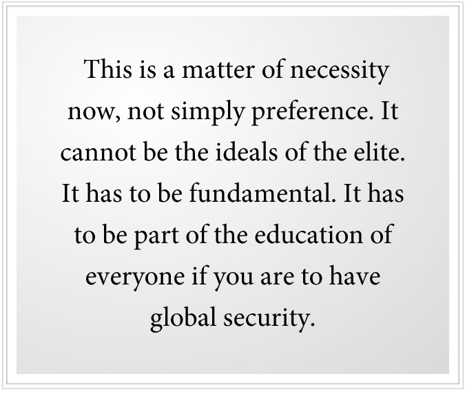 greater global security