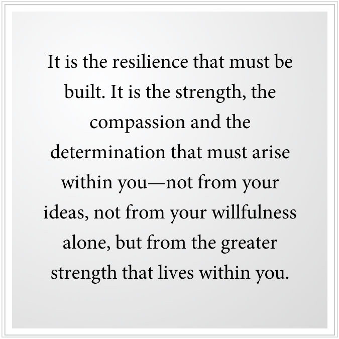 resilience must be built from greater strength