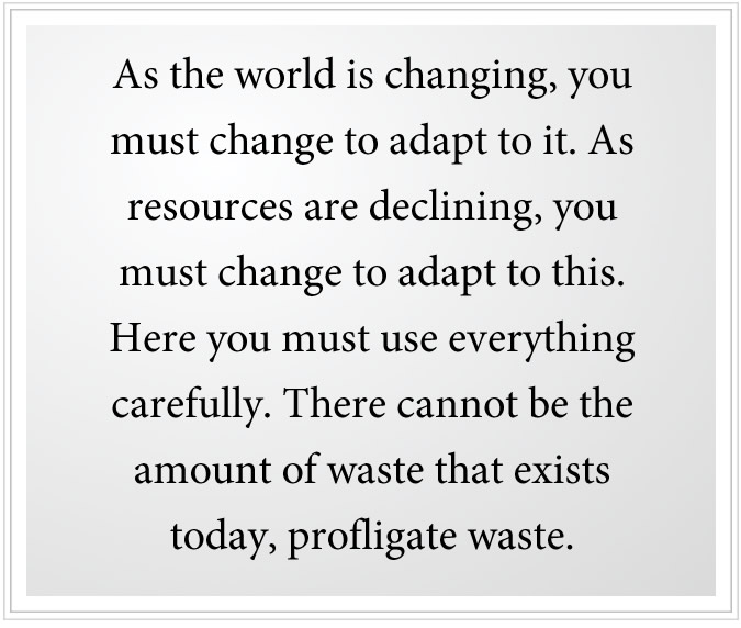 profligate waste must end