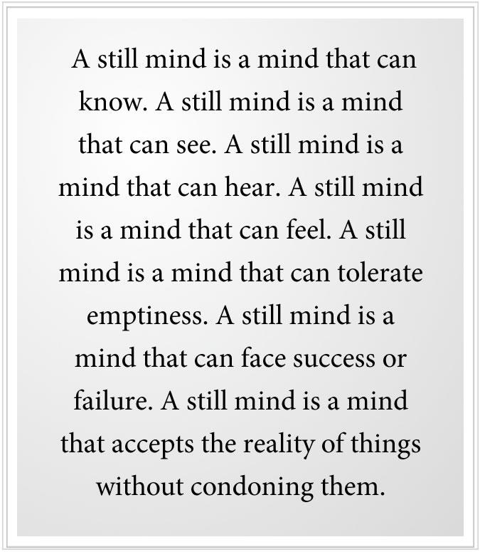 a still mind