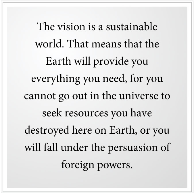 the vision is a sustainable future world