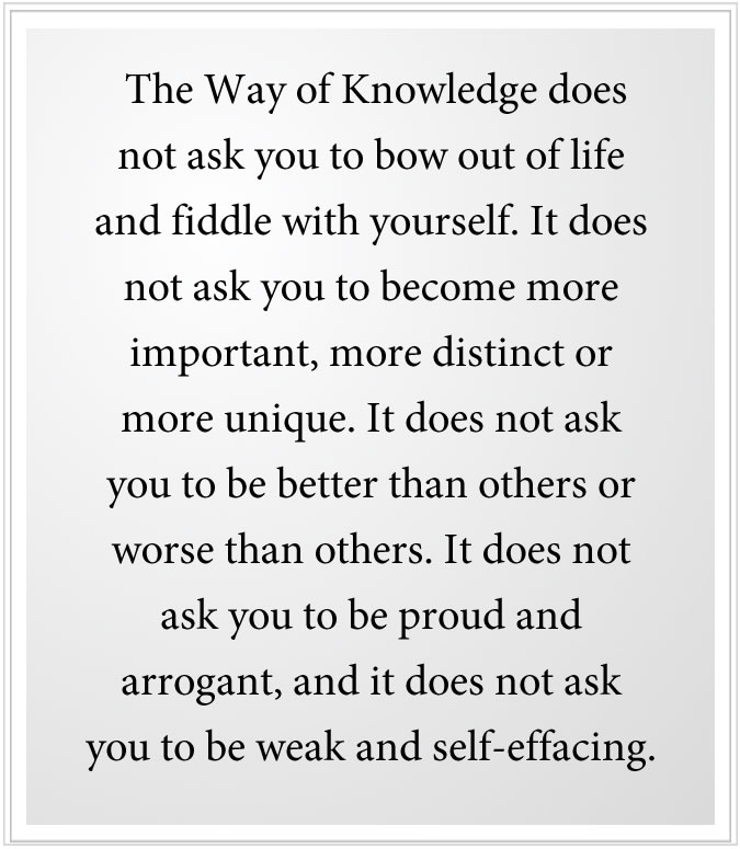 The Way if Knowledge Leads you beyond beliefs