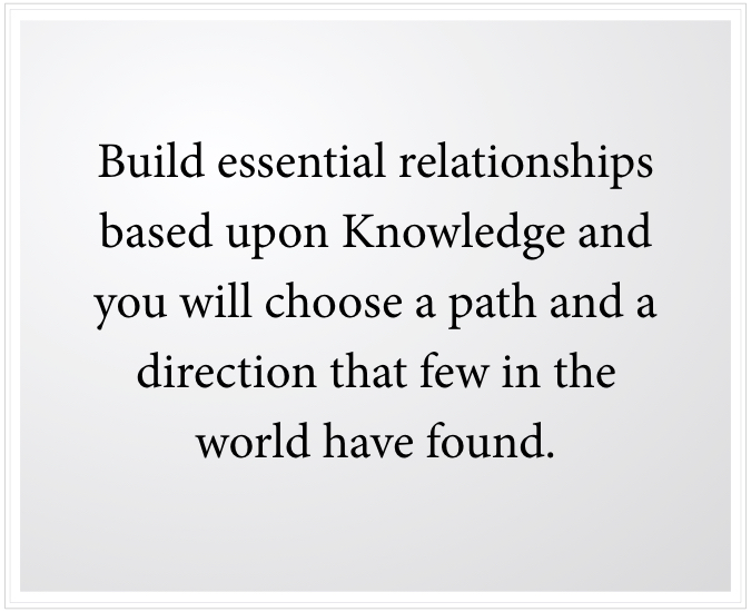 build essential relationships with others