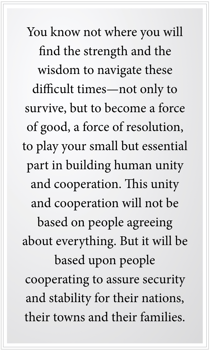building human unity and cooperation