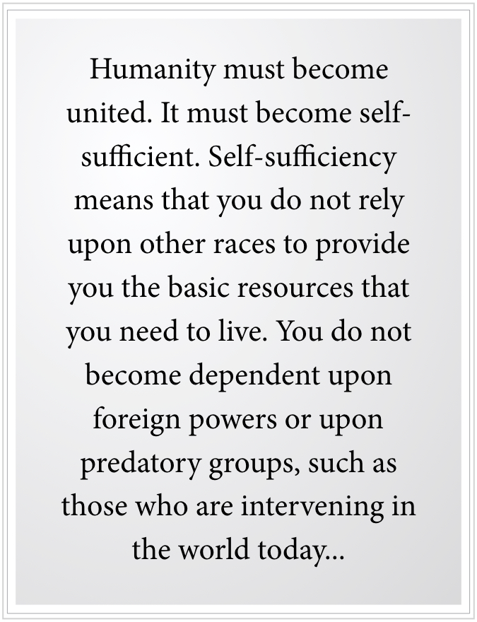 Do not rely upon other races for resources