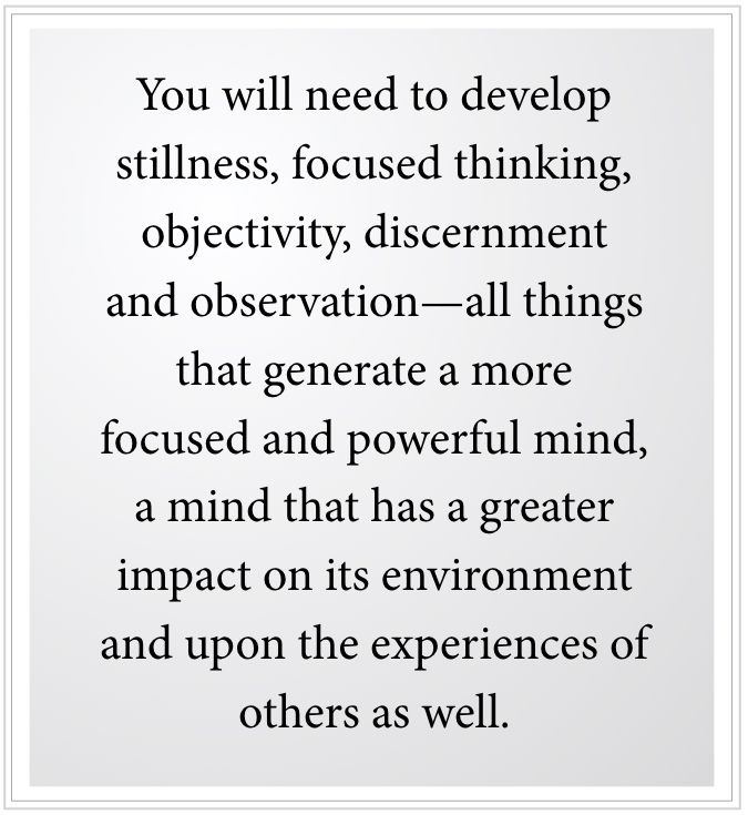 focused and powerful mind