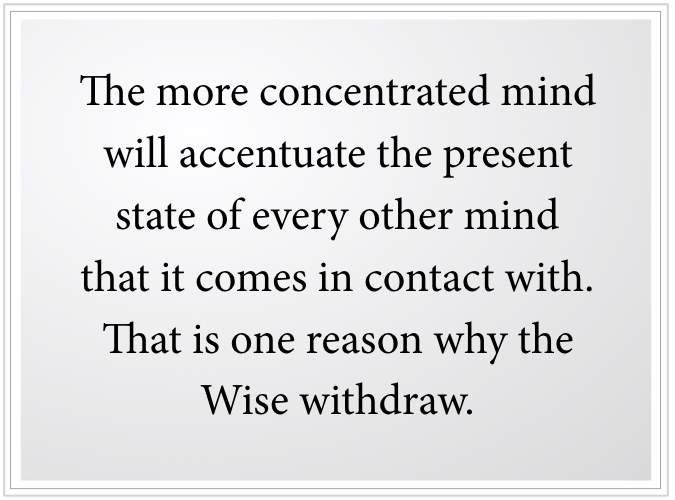 concentrated mind