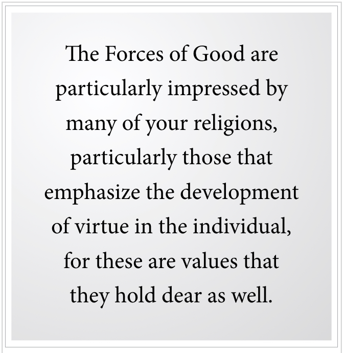 forces of good impressed by religion