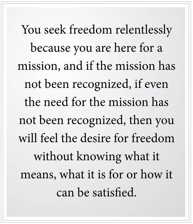 feel the desire for freedom