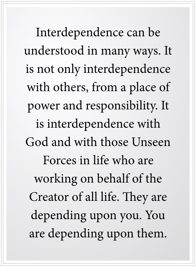 interdependence can be understood in many ways