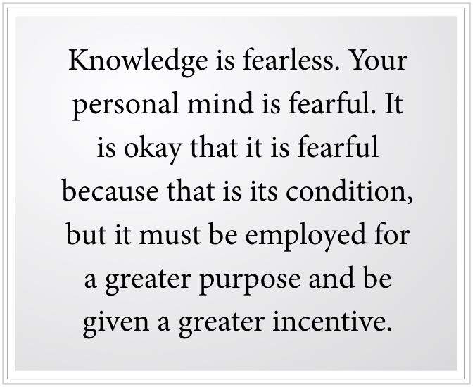 knowledge is fearless