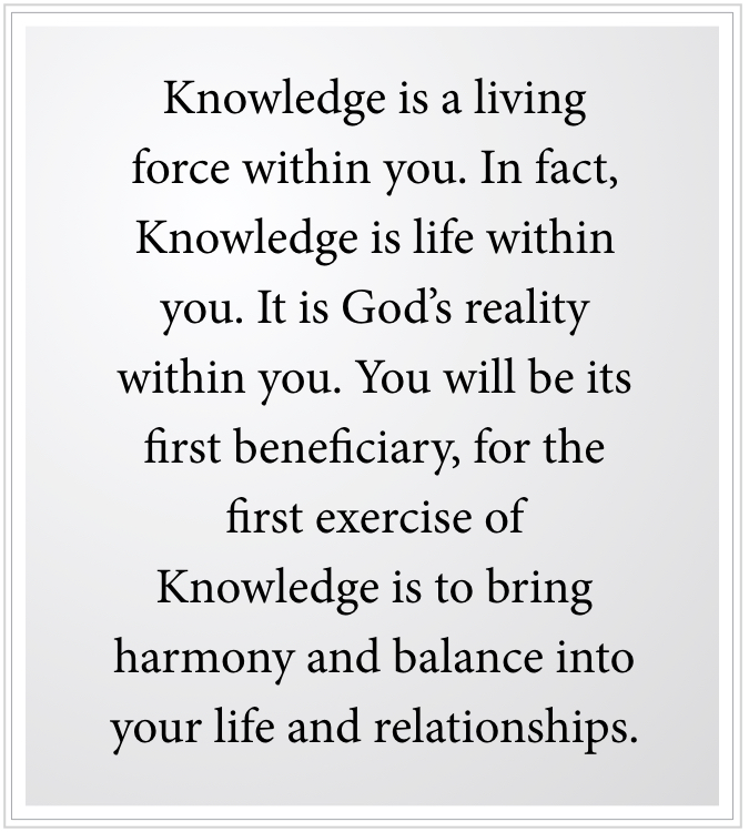 Knowledge within is a force