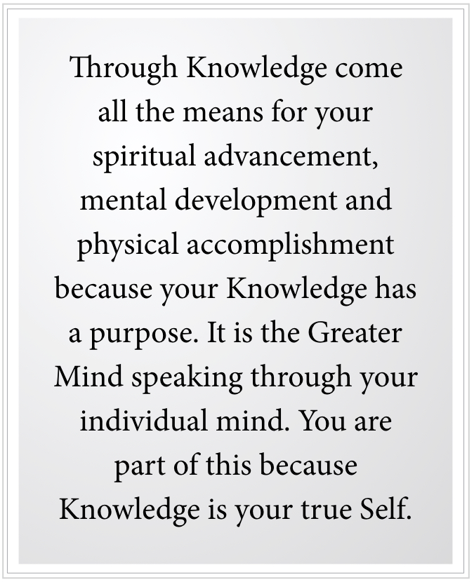 Knowledge is your true self