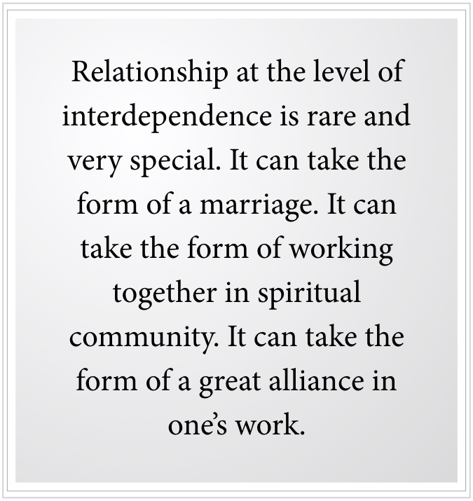 Relationship at the level of interdependence
